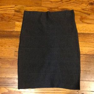 Poof Couture dark gray skirt. Size Small.